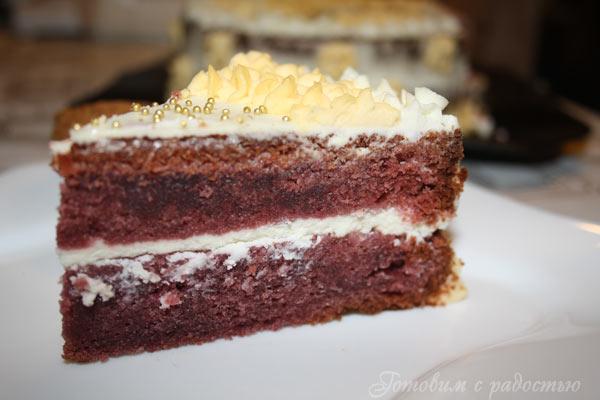 Рецепт торта красный бархат с растительным маслом
