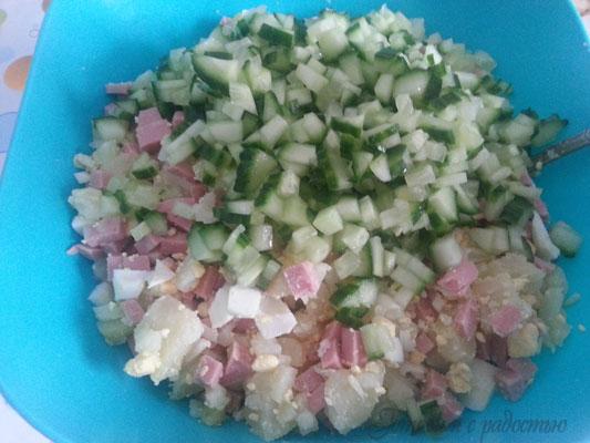 Салат оливье если нет огурцов в