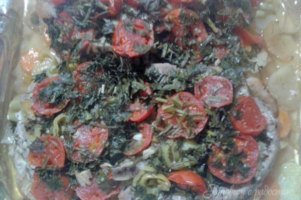 Стейки с овощами