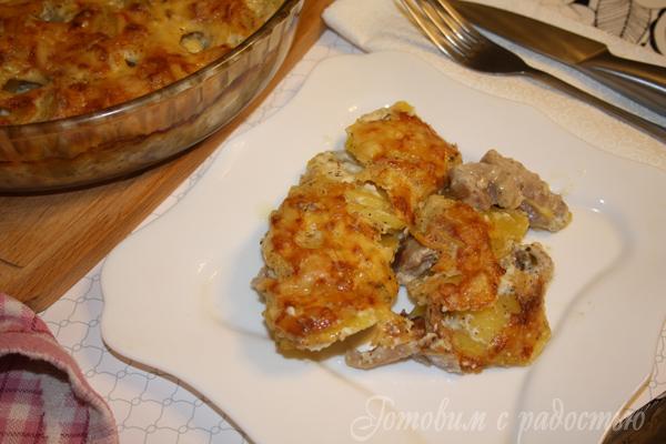 Картофель с соусом Бешамель