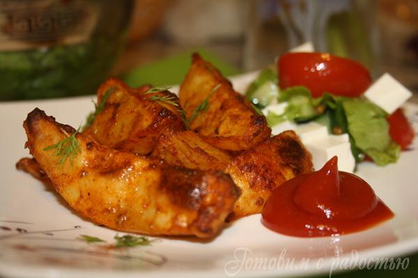 Домашний картофель по-деревенски в духовке
