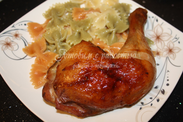 Курица с имбирём и соевым соусом